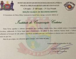Moção honrosa Polícia Militar Ambiental do Litoral Norte ICC